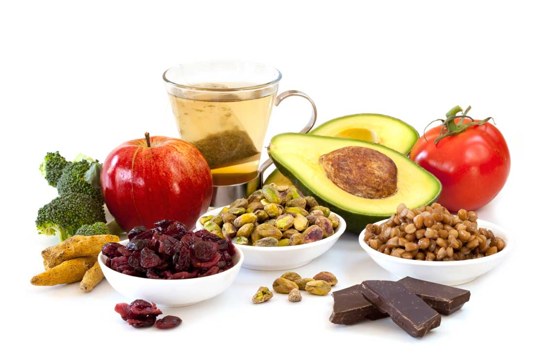 Antioxidant rich foods and beverages
