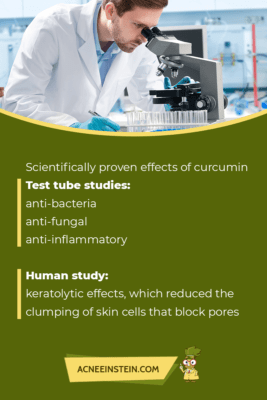 Scientifically proven effects of curcumin