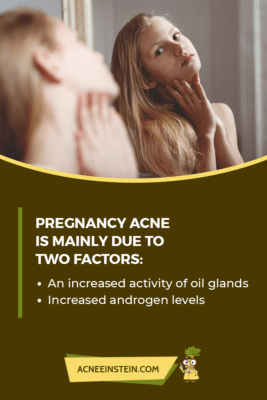 Factors causing pregnancy acne