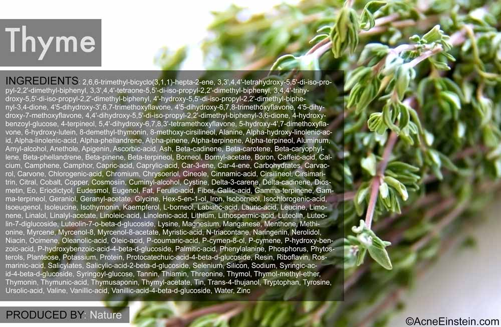 Chemicals in thyme
